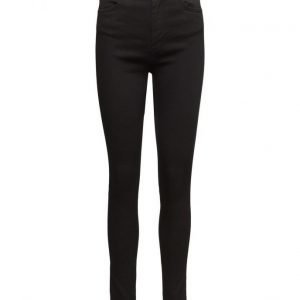 2nd One Amy 002 Satin Black Jeans skinny farkut