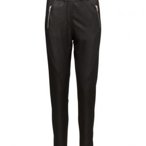 2nd One Miley 063 Zip Current Black Pants suorat housut