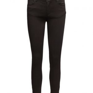 2nd One Nicole 006 Zip Moon Black Satin Jeans skinny farkut