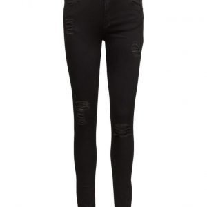2nd One Nicole 086 Black Cuts Jeans skinny farkut