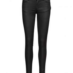 2nd One Nicole 108 Mat Black Coated Pants skinny farkut