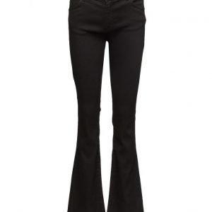 2nd One Uma 002 Satin Black Jeans (31) leveälahkeiset farkut