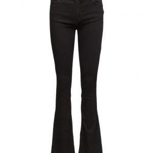 2nd One Uma 002 Satin Black Jeans (33) leveälahkeiset farkut