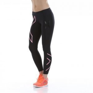 2xu Compression Tights Kompressiotrikoot Musta / Roosa