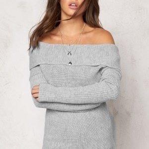 77thFLEA Brixia knitted sweater Light grey melange