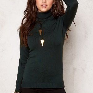 77thFLEA Evora knitted polo Dark green