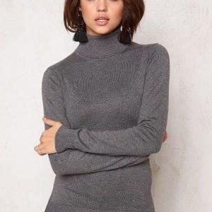77thFLEA Evora knitted polo Grey melange