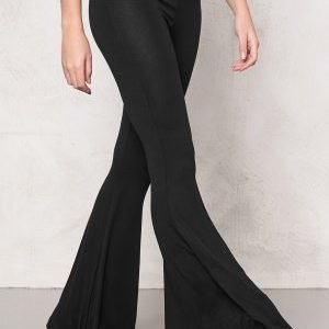 77thFLEA Hoop mega flared trousers Black
