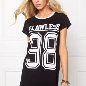 77thFLEA Hvis long tee Black