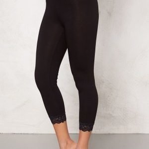 77thFLEA Juni cropped lace leggings Black