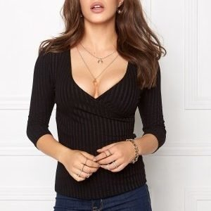 77thFLEA Lesley rib top Black