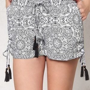 77thFLEA Nuuk shorts White / Black / Print