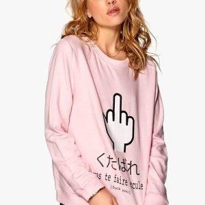 77thFLEA Prague Sweater Baby pink/Fuck you