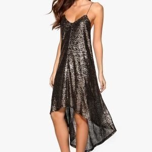 77thFLEA Sydney sequins dress Silver grey / Black