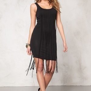 77thFLEA Tangier fringe dress Black