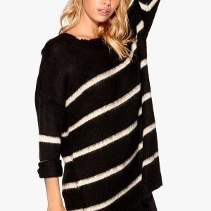 77thFLEA Tongling sweater Striped black/white