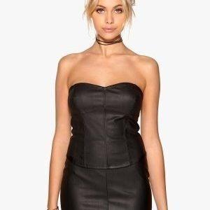 77thFLEA Warsawa PU corset Black