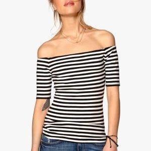 77thFLEA n.e.e.d.s Freya top Striped / Black / White