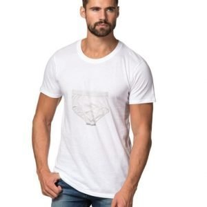 A.O CMS Briefs Print T-shirt White