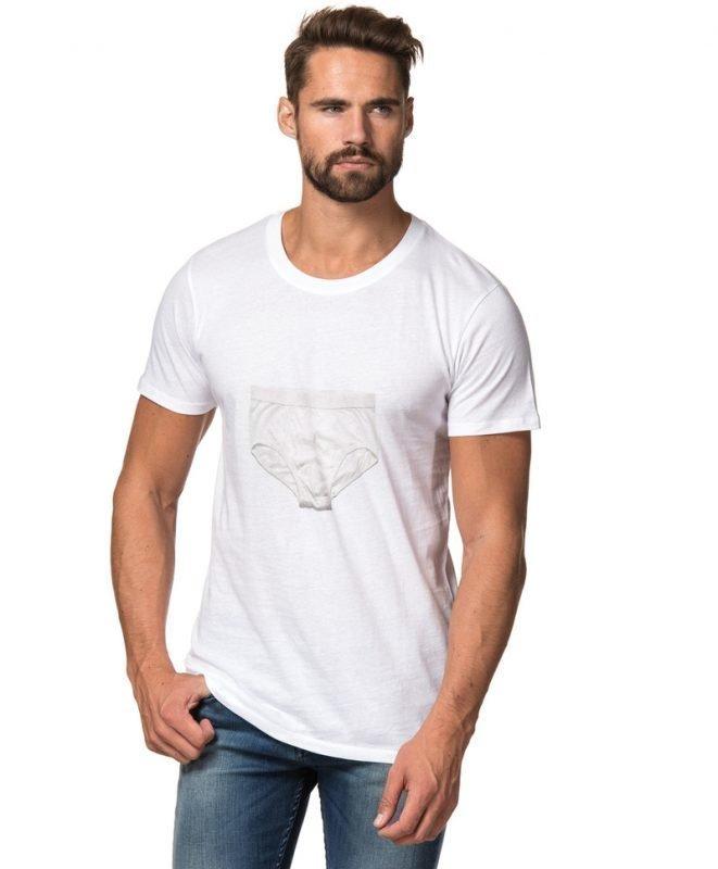 A.O CMS Briefs Print T-shirt White