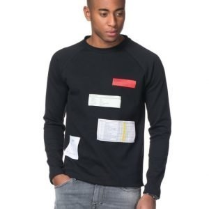 A.O CMS Interlock Sweater Black