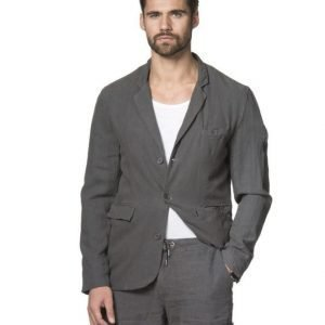 A.O CMS Linnen Mix Blazer Washed Black