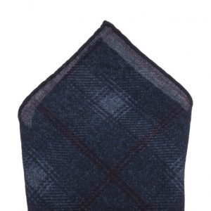 ATLAS DESIGN Hanky Check Blue taskuliina