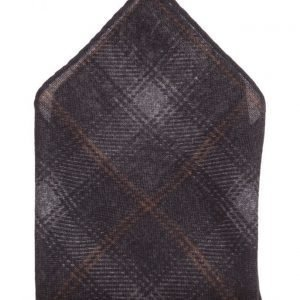 ATLAS DESIGN Hanky Check Grey taskuliina