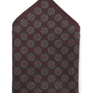 ATLAS DESIGN Hanky Medallion Navy Line Wine taskuliina