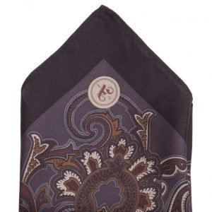 ATLAS DESIGN Hanky Paisley Dark Grey taskuliina