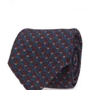 ATLAS DESIGN Tie Houndtooth Navy Line Wine solmio