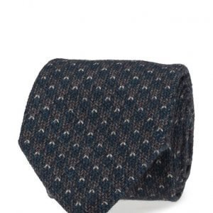 ATLAS DESIGN Tie Houndtooth Navy Line solmio