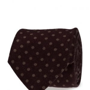 ATLAS DESIGN Tie Polka Dot Navy Line Wine solmio