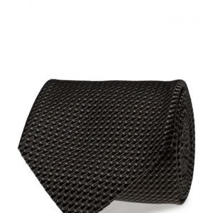 ATLAS DESIGN Tie Semi Plain Navy Line Black solmio