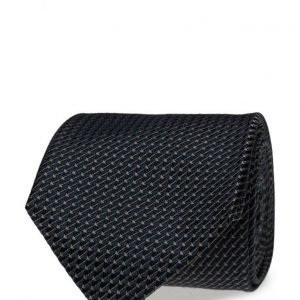 ATLAS DESIGN Tie Semi Plain Navy Line Blue solmio