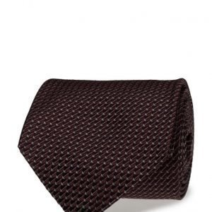ATLAS DESIGN Tie Semi Plain Navy Line Wine solmio