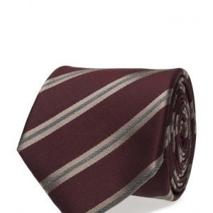 ATLAS DESIGN Tie Stripe Ala Herringbone Wine solmio