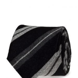 ATLAS DESIGN Tie Stripe Black solmio