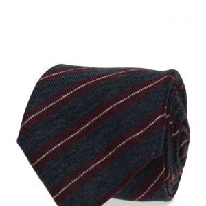 ATLAS DESIGN Tie Stripe Navy Line Blue solmio