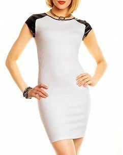 Abbey Dress White/Black