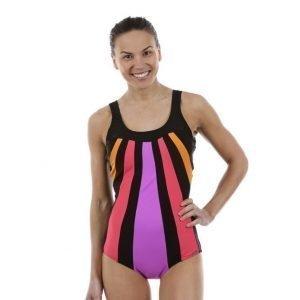 Abecita Serpentine Swimsuit Uimapuku Musta / Oranssi