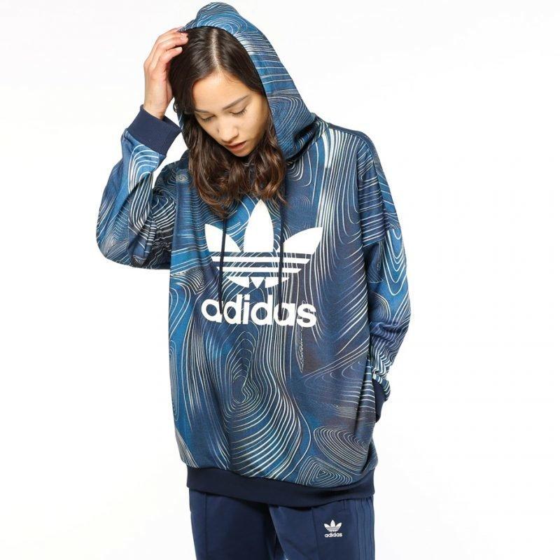 Adidas Blue Geology Oversize -huppari