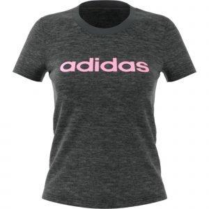 Adidas Essentials Linear Slim T-Paita Harmaa