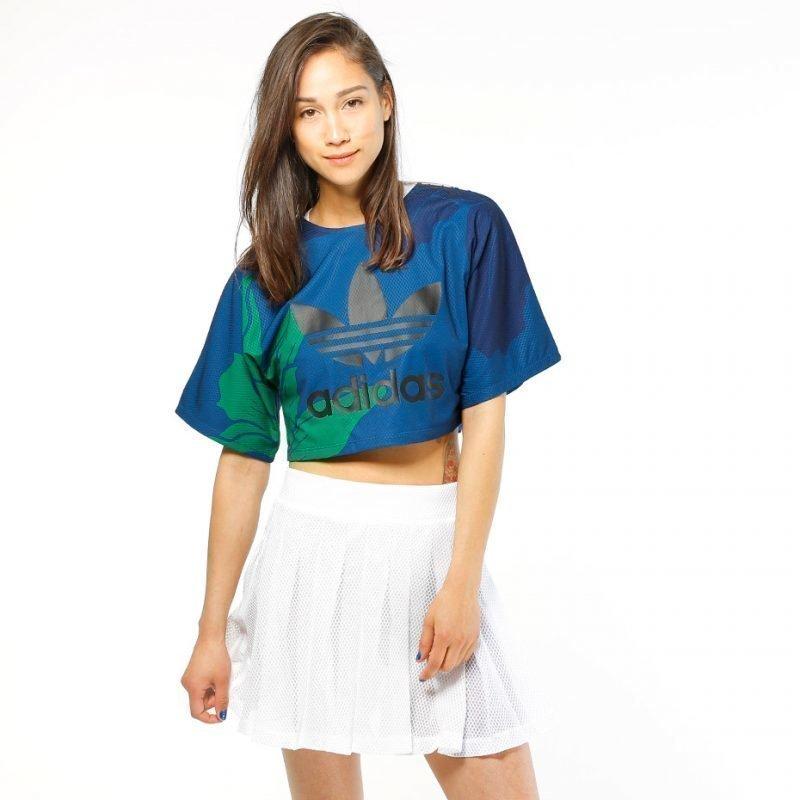 Adidas Floral Engraving Cropped -t-paita