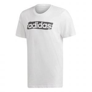 Adidas Linear Brush T-Paita Valkoinen