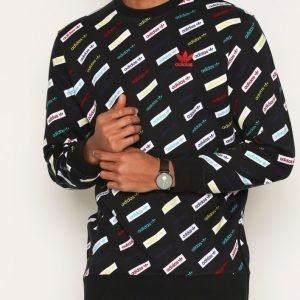 Adidas Originals Trf Aop Crew Pusero Black