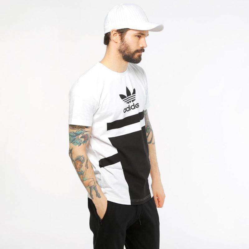 Adidas White Black Logo -t-paita