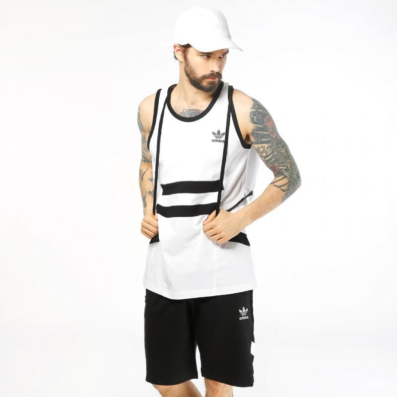 Adidas White Black -tank top