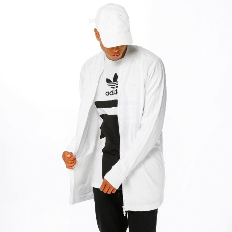 Adidas White Long SST -zip crew