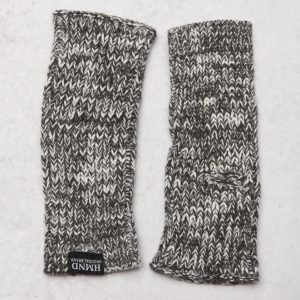 Adrian Hammond Ace Knitted Mittens Dark Grey